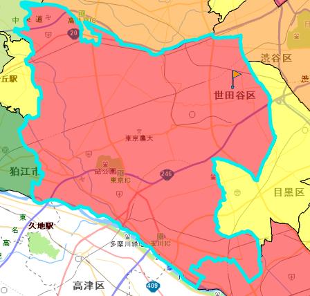 参考 警視庁 事件事故発生マップ 世田谷区参照